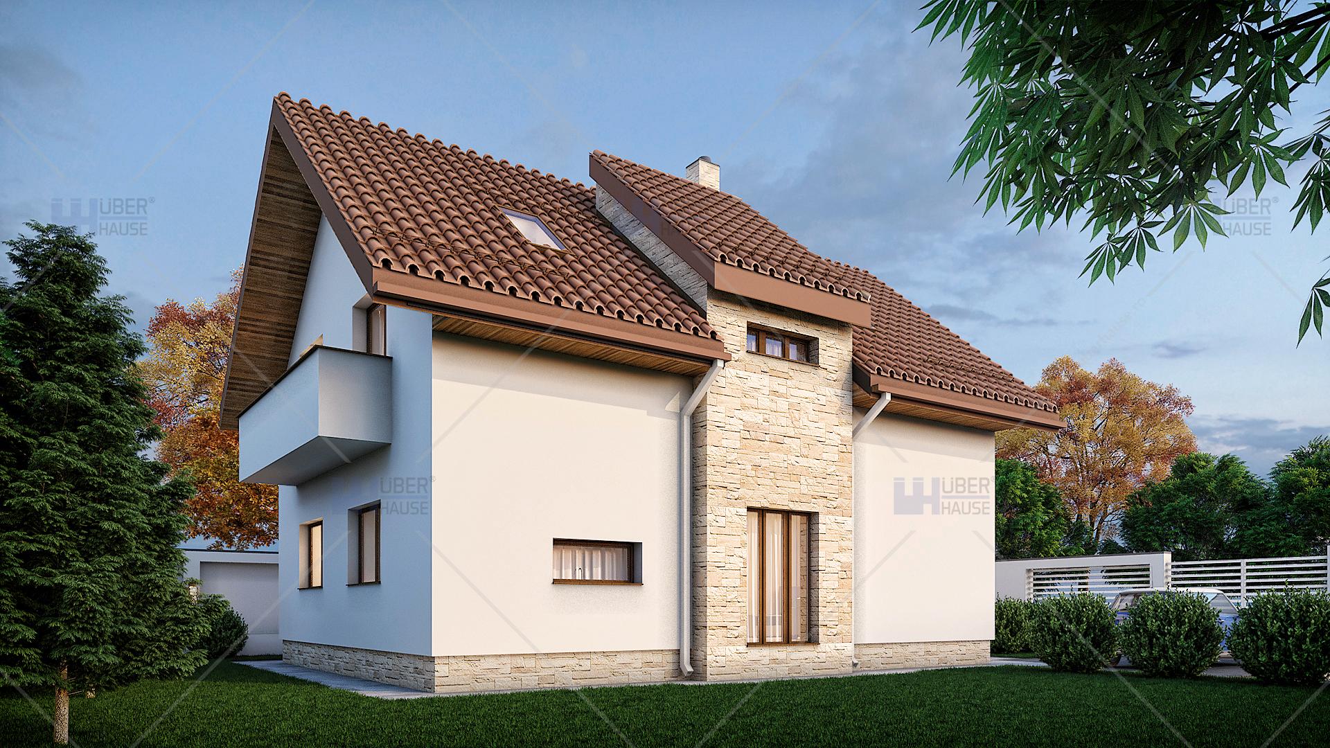 Proiect casa parter mansarda 132 m2 argenta for Arhitectura case cu mansarda