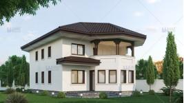 Proiect casa parter + etaj (200 mp) - Harmony