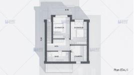Proiect casa parter + etaj (120 mp) - Elania