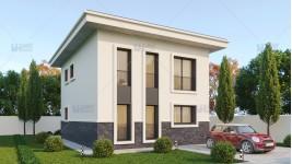 Proiect casa parter + etaj (119 mp) - Zaira