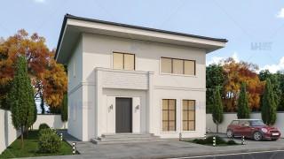 Proiect casa parter + etaj (130 mp) - Sorenta