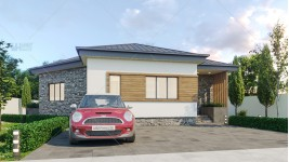 Proiect casa parter (77 mp) - Brita