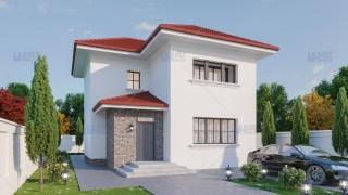 Proiect casa parter + etaj (125 mp) - Edna
