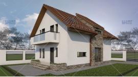 Proiect casa parter + mansarda (132 mp) - Argenta