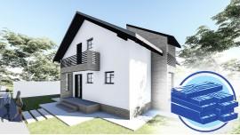 Constructie casa lemn parter + mansarda (130 mp) - Aora