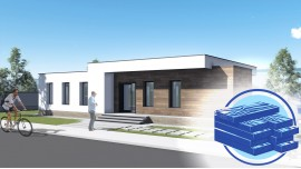 Constructie casa structura metalica parter (126 mp) - Diena