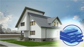 Constructie casa lemn demisol + parter + mansarda (202 mp) - Crissa