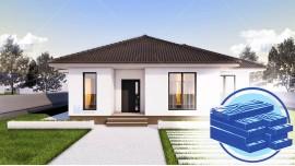 Constructie casa lemn parter (97 mp) - Ema