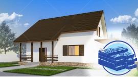 Constructie casa lemn parter + mansarda (128 mp) - Alpina