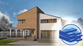 Constructie casa lemn parter + mansarda (159 mp) - Amelia