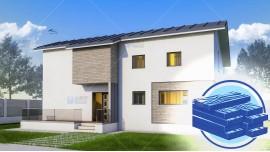Constructie casa lemn parter + mansarda (165 mp) - Aselya