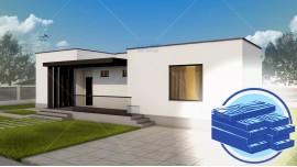 Constructie casa structura metalica parter (102 mp) - Campina
