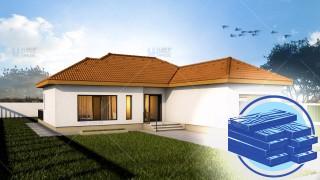 Constructie casa lemn parter (98 mp) - Eva