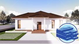 Constructie casa lemn parter (112 mp) - Rovenna