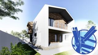 Constructie casa structura metalica parter + mansarda (146 mp) - Atrium