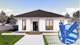 Constructie casa structura metalica parter (97 mp) - Ema