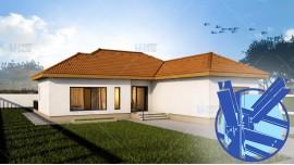 Constructie casa structura metalica parter (98 mp) - Eva