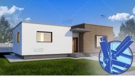 Constructie casa structura metalica parter (128 mp) - Gliso