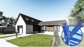 Constructie casa structura metalica parter (150 mp) - Berna