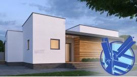 Constructie casa structura metalica parter (128 mp) - Flatro