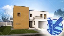 Constructie casa structura metalica parter + etaj (212 mp) - Abya