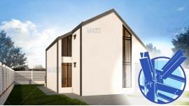 Constructie casa structura metalica parter + mansarda (100 mp) - Anais