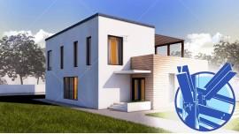 Constructie casa structura metalica parter + etaj (185 mp) - Arya