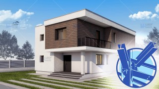 Constructie casa structura metalica parter + etaj (171 mp) - Atena