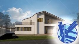 Constructie casa structura metalica parter + mansarda (181 mp) - Expanda