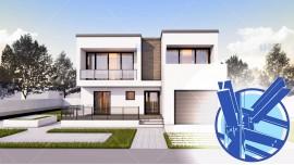 Constructie casa structura metalica parter + etaj (187 mp) - Herra