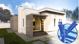 Constructie casa structura metalica parter (88 mp) - Minimus