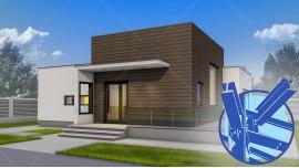 Constructie casa structura metalica parter (100 mp ) - Nadira