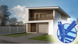 Constructie casa structura metalica parter + mansarda (200 mp) - Selena