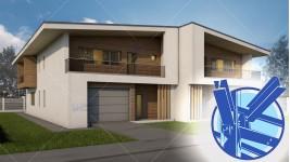 Constructie casa structura metalica duplex parter + mansarda (390 mp) - Teea