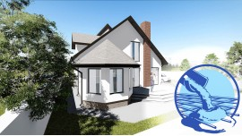 Constructie casa zidarie demisol+parter+mansarda (202 mp) - Crissa