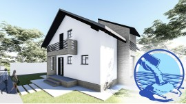 Constructie casa zidarie parter + mansarda (130 mp) - Aora