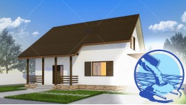 Constructie casa zidarie parter + mansarda (128 mp) - Alpina