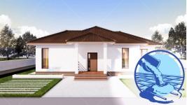 Constructie casa zidarie parter (112 mp) - Rovenna