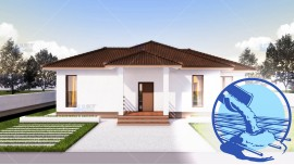 Constructie casa structura metalica parter (112 mp) - Rovenna