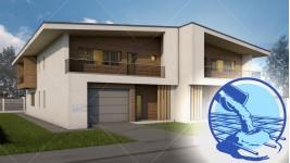 Constructie casa zidarie duplex parter + mansarda (390 mp) - Teea