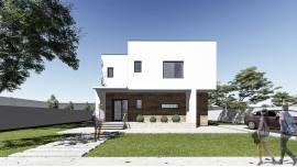 Proiect casa parter + etaj (124 mp) - Donna