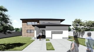 Proiect casa parter + etaj (180 mp) - Hermes