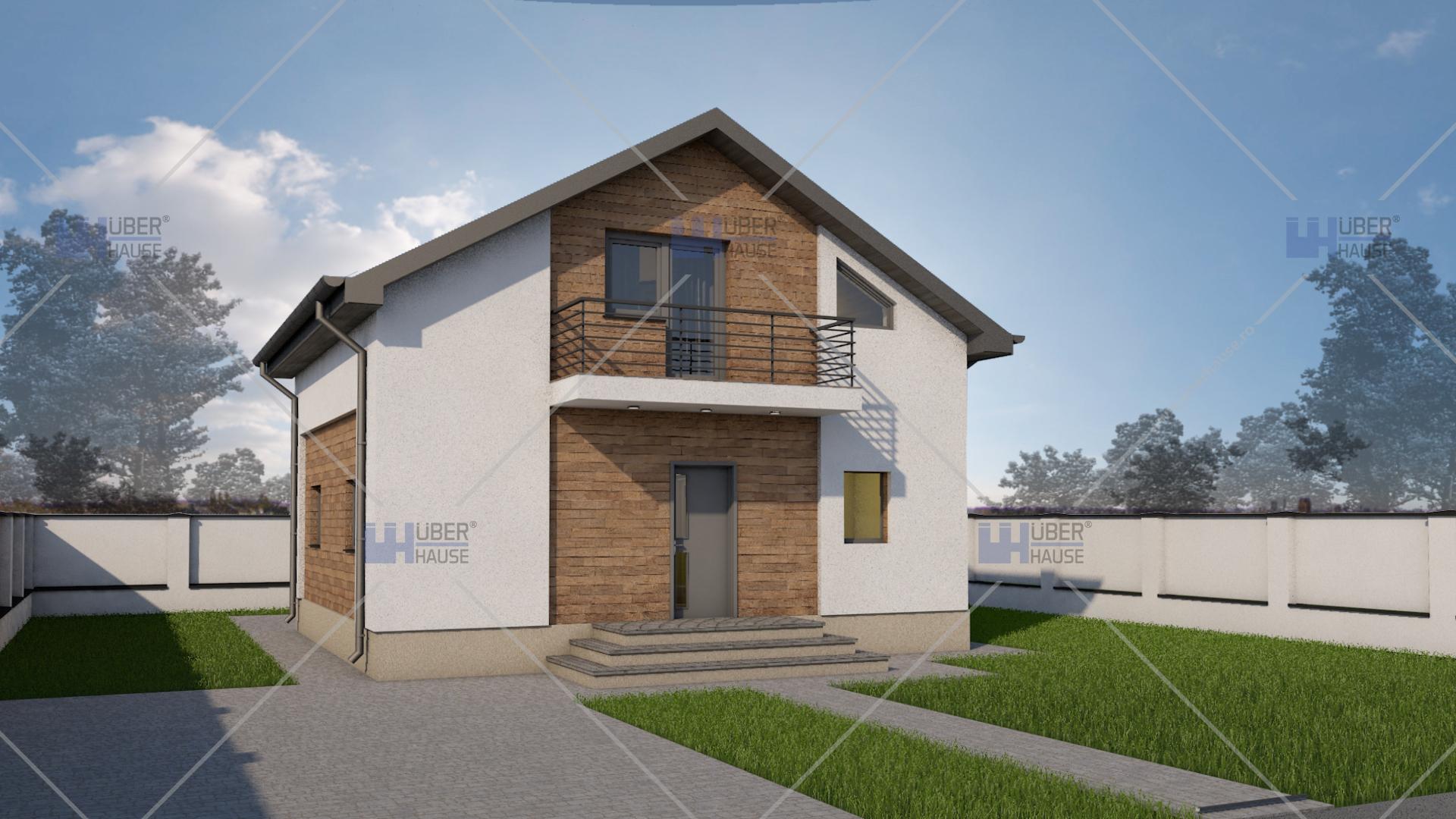 Proiect casa parter mansarda 99 m2 meria for Arhitectura case cu mansarda