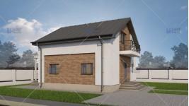 Proiect casa parter + mansarda (99mp) - Meria
