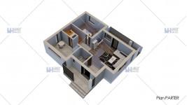 Proiect casa parter + etaj (119 mp) - Cubiqa