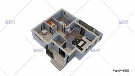 Constructie casa zidarie parter + etaj (119 mp) - Cubiqa