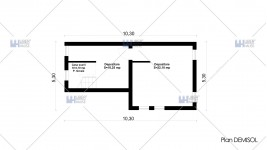 Proiect casa demisol + parter + mansarda (202 mp) - Crissa