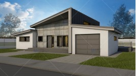 Constructie casa structura metalica parter (109 mp) - Adona