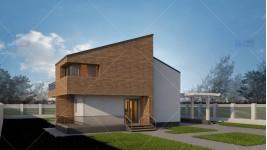Proiect casa parter + mansarda (159 mp) - Amelia