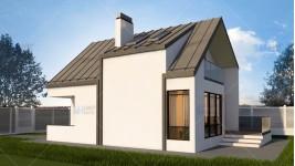 Proiect casa parter + mansarda (100 mp) - Anais